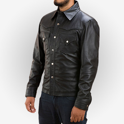 Mens Leather Jacket by David Morrissey