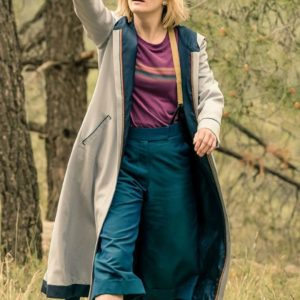 13th doctor jodie whittaker trench coat