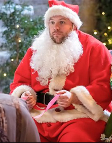 robert santa claus the goes wrong show henry lewis christmas coat