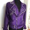 selena quintanilla purple suede jacket
