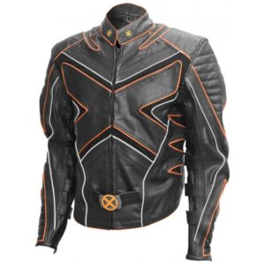 Wolverine Black and Orange Leather Jacket