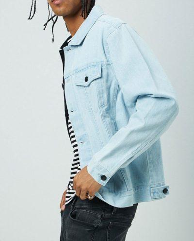 Reworked Two-Tone Denim Jacket