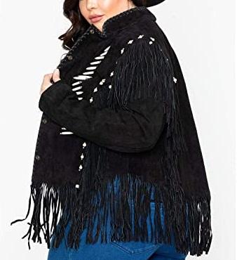 Fringe and Bone Bead Womens Jacket
