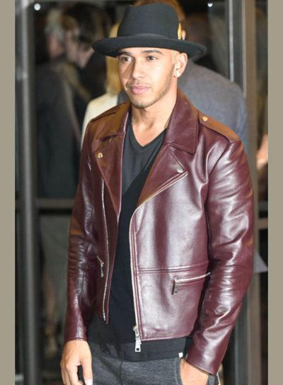 Lewis Hamilton Burgundy Jacket