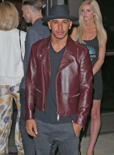 Burgundy Lewis Hamilton Jacket
