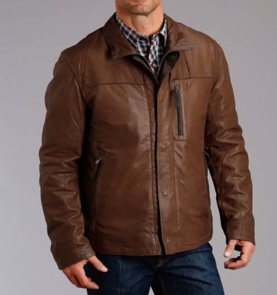 Cowboy Style Brown Leather Jacket