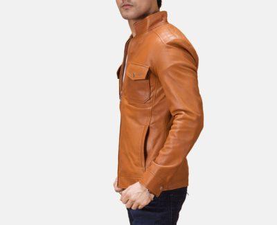 Voltex Tan Biker Jacket for Mens