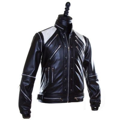 Michael Jackson Cosplay Black Leather Jacket