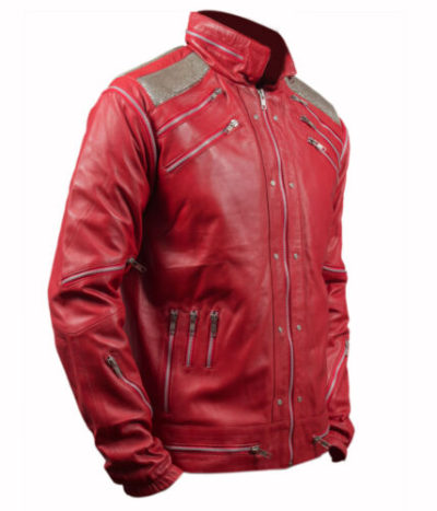 Michaels Red Leather Jacket