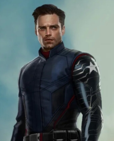 bucky barnes the falcon and the winter soldier sebastian stan blue jacket