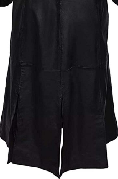 Dracula Leather Long Trench Coat