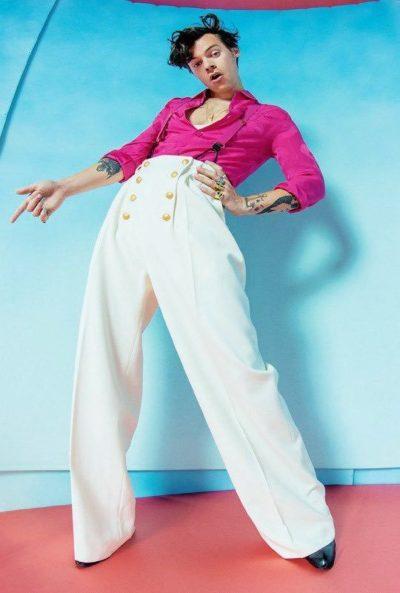 harry styles white pants