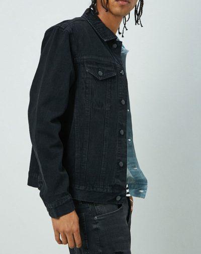Black and Blue Denim Jacket
