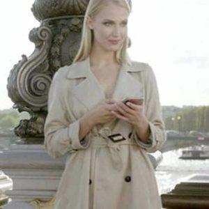 Emily in Paris Camille Razat Trench Jacket