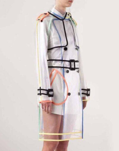 Emily in Paris Transparent PVC long coat