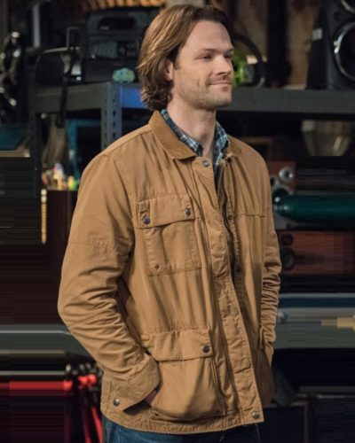 Men Jared Padalecki brown jacket