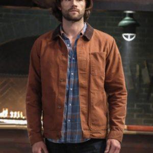 Men Jared Padalecki in Supernatural brown jacket