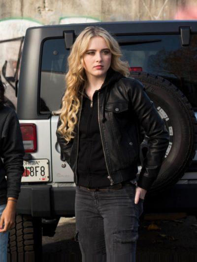 Kathryn Newton in Supernatural black jacket