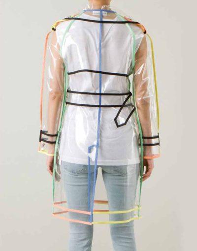 Lily Colins Transparent PVC coat for Women