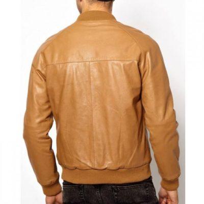 Tan Brown Bomber Jacket