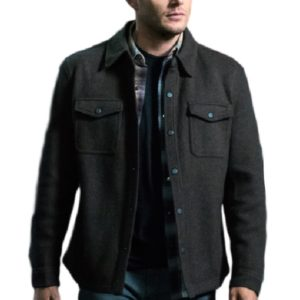 Men black cotton coat- Super natural outfits