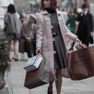 The Queen's Gambit Beth Harmon Coat in Pink