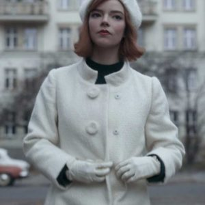The Queen's Gambit Beth Harmon White Trench Coat