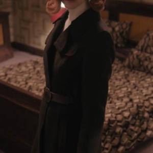 beth harmon the queen's gambit anya taylor joy black coat