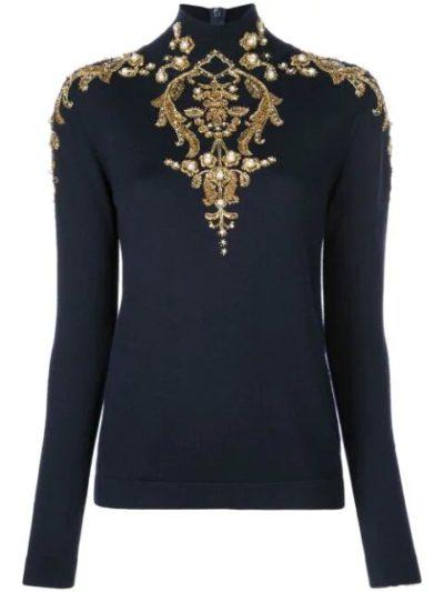 filthy rich margaret monreaux embroidery jumper