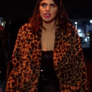 kelsey 1 night in san diego alexandra daddario leopard coat