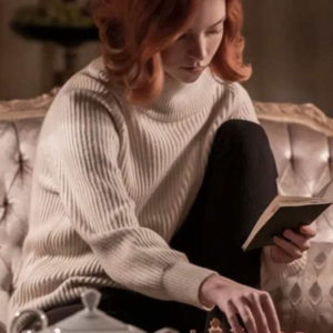 the queen's gambit beth harmon white sweater