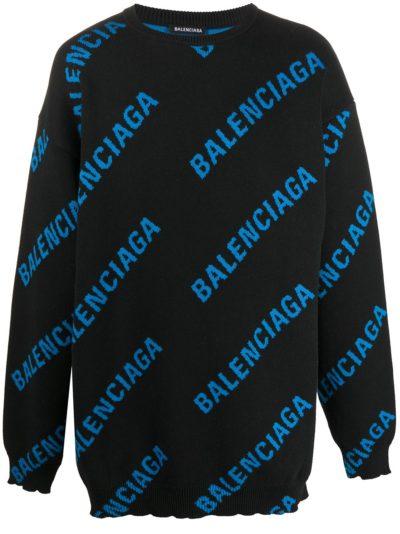 the real housewives of salt lake city blue & black balenciaga print sweater