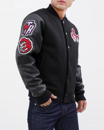 toronto raptors varsity bomber jacket