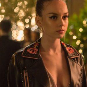 Elite Ester Expósito Black Leather Coat