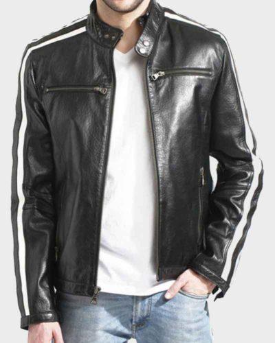 Black Biker Jacket for Men