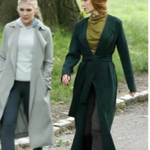 Nicole Kidman the Undoing Green Jacket