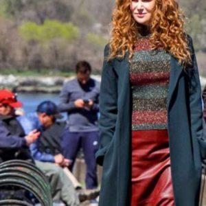 The Undoing Grace Sachs Black Long Coat for Women