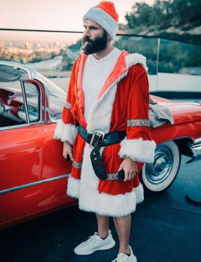 dan bilzerian santa claus coat