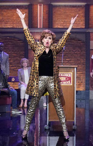 dee dee allen the prom meryl streep tiger print coat