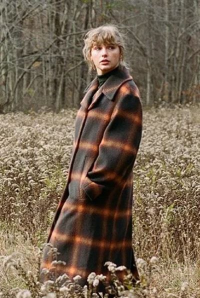 evermore taylor swift checked coat