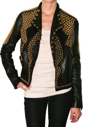 kendall jenner studded biker leather jacket