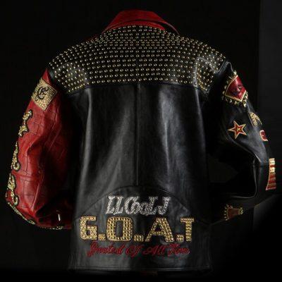 ll cool j goat black & red leather jacket
