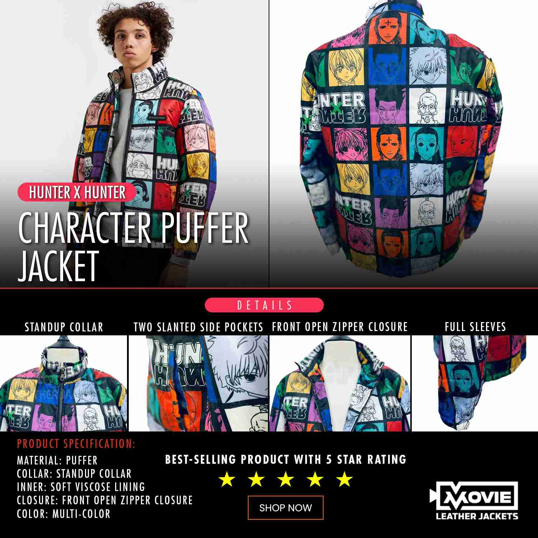 Hunter X Hunter Character Puffer Jacket