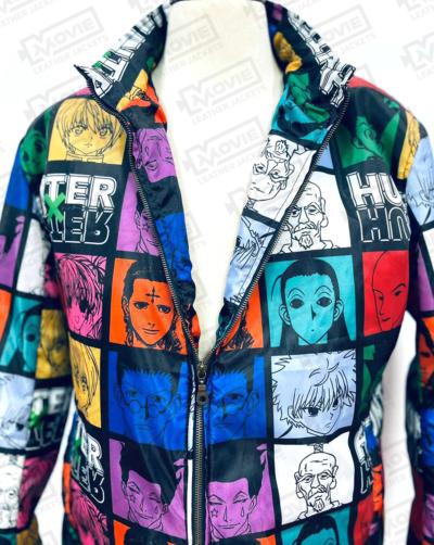 Hunter X Hunter Character Puffer Jackets