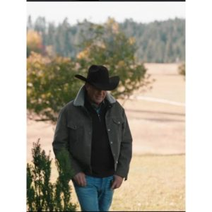 KEVIN COSTNER YELLOWSTONE JOHN DUTTON BROWN CORDUROY JACKET