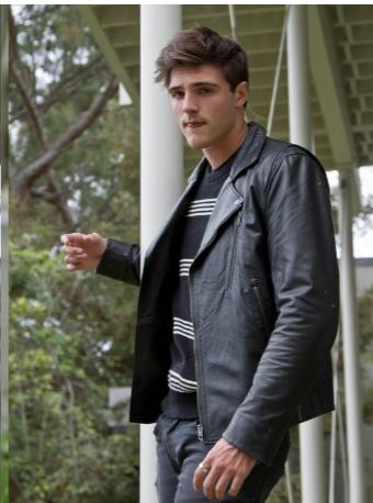 Noah Flynn Black jacket Kissing Booth jacket for Men