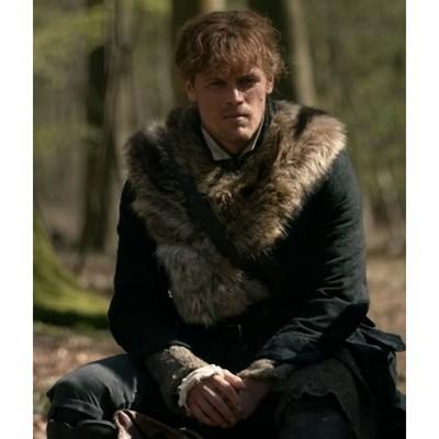 Outlander Jamie Fraser Fur Coat for Men