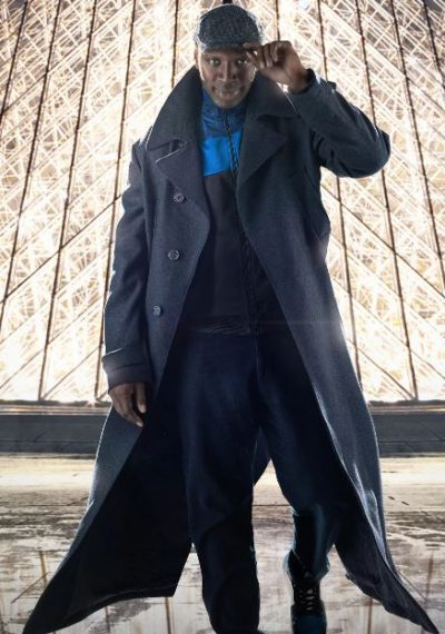 assane diop lupin omar sy black trench coat