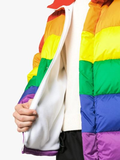 feather rainbow down puffer jacket