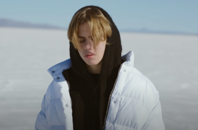 kid laroi puffer white jacket